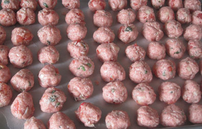 Ready to bake albondigas