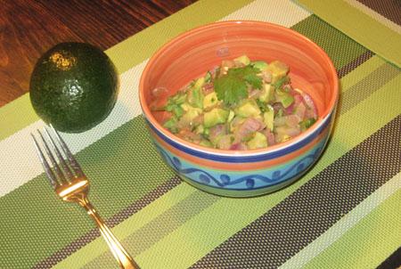 salade Avocats et tomates