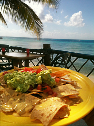 Nachos at the beach