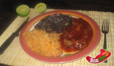 Mexican beef with guajillo sauce