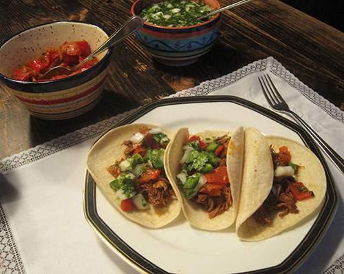 Piatto con dei tacos