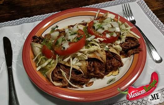 Un plat de Cachetadas comme à Tampico