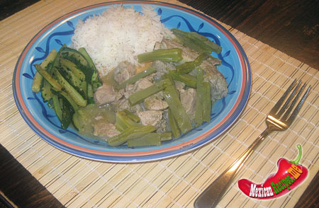 Pork with nopalitos