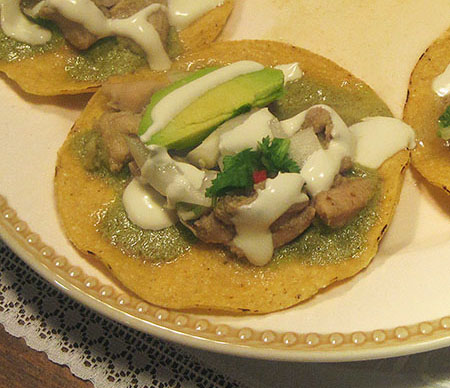 a mexican chicken tostada