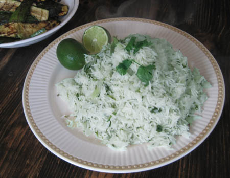 riz vert mexicain