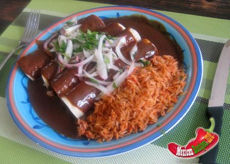 enchiladas au mole
