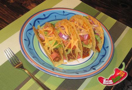 Tacos à tortilla dure