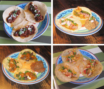 Tacos with recipes on this site