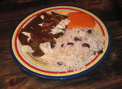 Mole with chicken Pollo con Mole
