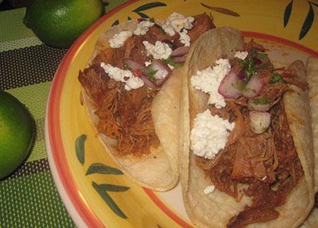 tacos con carne di maiale