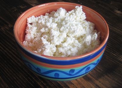 Homemade queso fresco