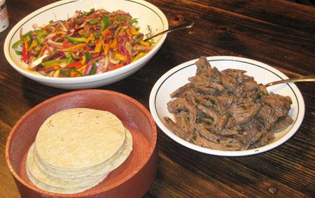 Steak Fajitas Table