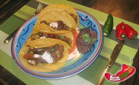 Tacos à la viande du Campeche