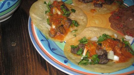 Tacos de Carne Asada plate