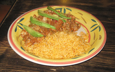 tinga de res plate, or mexican beef stew