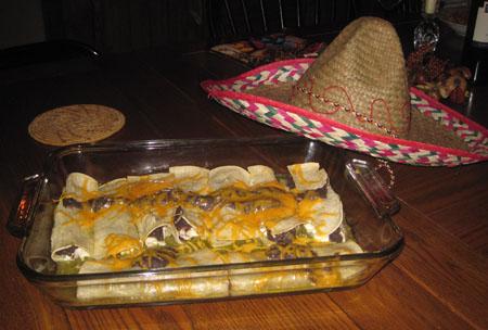 enchiladas con i fagioli neri