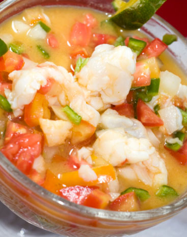 a bowl of mexican ceviche