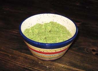 a bowl of guacamole dip