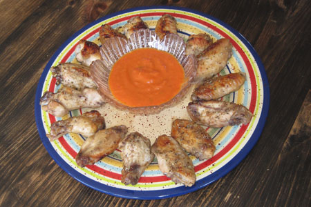 Lemon Mexican Chicken Wings on a plate