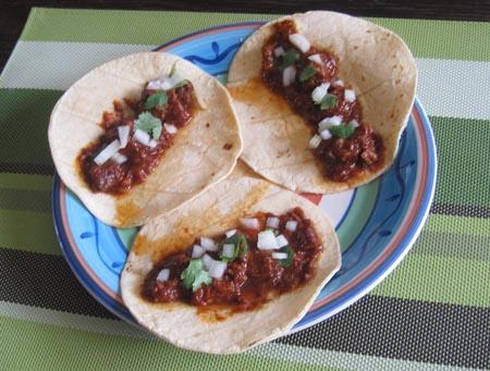 assiette de tacos de birria