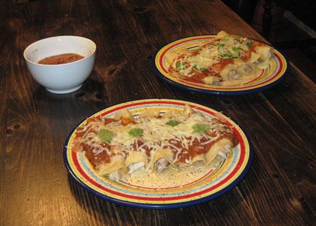 enchiladas in tomato sauce
